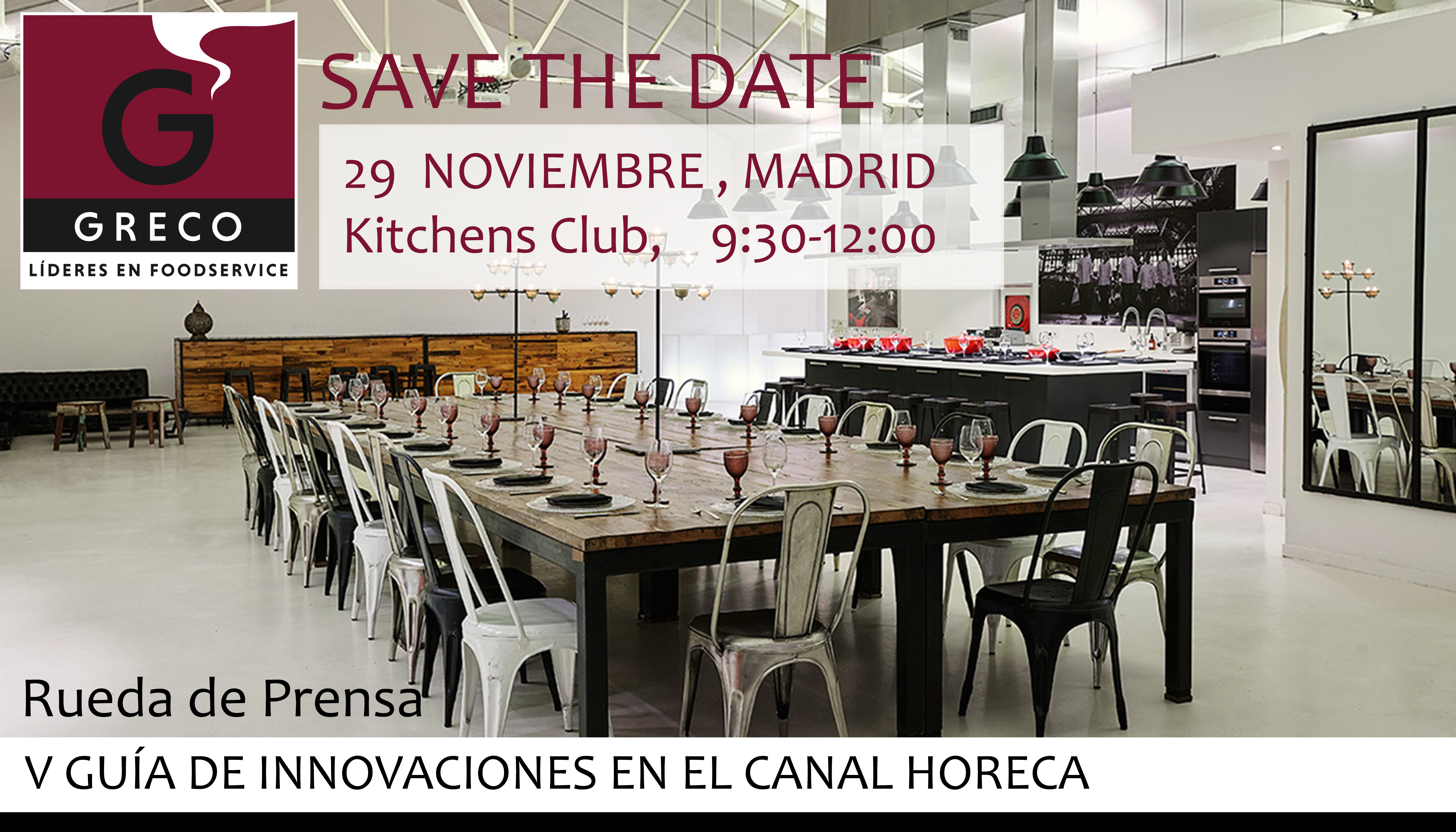 SAVE THE DATE: Rueda de Prensa Club GRECO, 29 noviembre 2018 – Madrid
